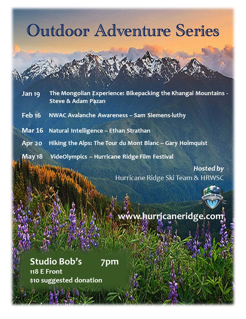 Hurricane Ridge Outdoor Adventure Series @ Studio Bob's
